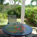 Cabana patio and garden