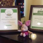 Reception - Trip Advisor Scoring Certificates
