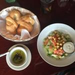 My salad was served with wonderful looking & tasting bread with a really nice seasoned dipping o