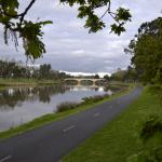 Bike path along the Yarra River, Melbourne
