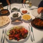 Had another superb meal tonight. Chose Railway Lamb, Tarka Dhal, Roti, King Prawn Shashlik, Sag