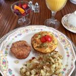 Wonderful complete breakfasts!  Truly Pampered!