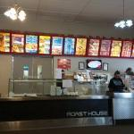 Oppies Fish and Chip shop. Great menu selection.