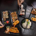 Moshi Moshi Sushi, Calamary, Ramen, Yakitori, Katsu