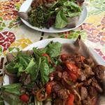 Lamb plate and stewed meat plate! Yum!!