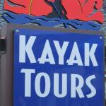 Sign in front of San Juan Kayak Expeditions, San Juan Island