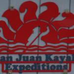 Sign on building, San Juan Kayak Expeditions, San Juan Island