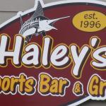 Haley's sign, Friday Harbor, San Juan Island