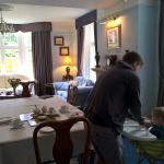 Getting ready for breakfast in the gorgeous dining room