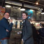 My son and I visiting The BrewDog Pub with excellent beers