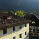 Looking down at Oberammergau from our room