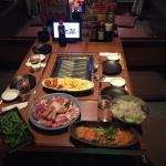 initial yakiniku meal set up