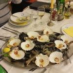 Fresh fish , calmari and mussel