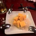 Sticky rice and mango dessert