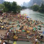 Crazy bamboo rafts...