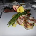 lobster and shrimp with filet from my plate!