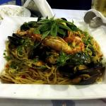 Spagetti med sjømat