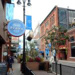 Plaka Cafe sign in Greektown