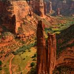 "the famous ""Spider Rock"""