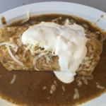 Chile Relleno burrito smothered