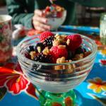 Fresh fruit and yogurt parfait