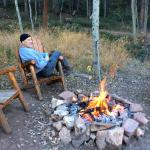 Fire pit at Red Fox cabin
