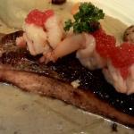 Salmon...crunchy skin juicy fish