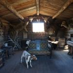 Old trail town - the inside of one of the houses