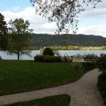 A view of the back yard of the Riverside Inn estate, looking at the Ohio River.