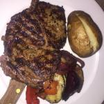 Decent Rib-eye steak dinner