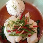 Steamed Hong Kong Seabass with Rice