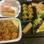 Pad Thai Noodles and Dragon Roll Bento Box