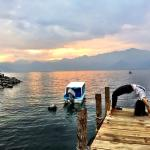 Yoga on the dock at sunset
