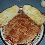 Yummy yummy spaghetti and meatballs couldn't even finish it