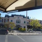 Vista desde el hotel  Castelar a la estación de trenes turísticos.