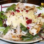 Chicken, Pomegranate &  Goats Cheese salad