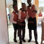 friendly staff at la cour