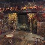 The fireplace at the Historic Smithville Inn