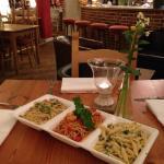 Friday night trio of pastas