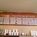 Kilwin's ice cream selections