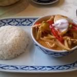 Thai Red Chicken Curry and Jasmine Rice