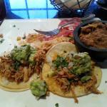 shredded chicken taco