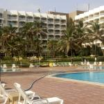 view of the hotel from swimming pool