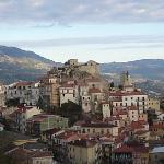 a balcony view of Oliveto Citra, Italy