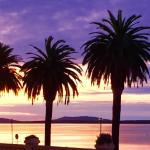 L'alba sulla laguna di Orbetello