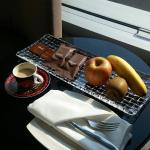 Complimentary coffee, fruits and small cakes are always impressive