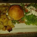 L'hampe burger excellent et bien copieux.