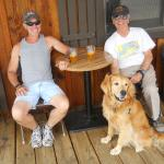 David, Terry, and Riley at the Mountain Village Resort, ID, Summer 2015
