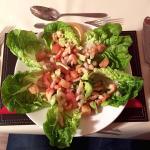 Crayfish and Prawn starter with sauce vierge