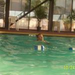 hubby loved the swim